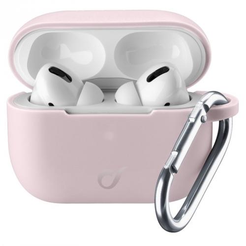 Pouzdro CellularLine Bounce pro Apple AirPods Pro růžové