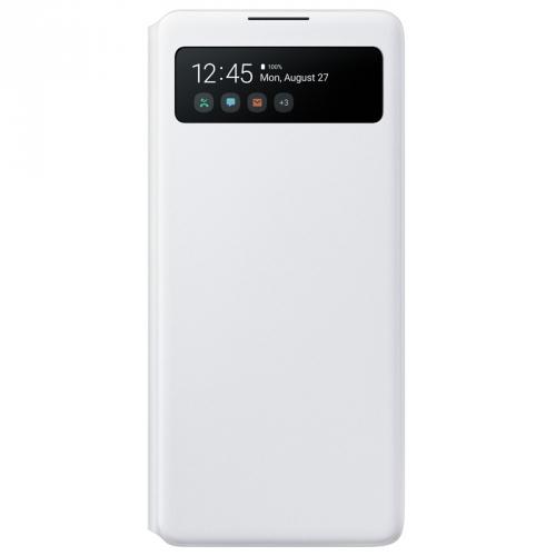 Pouzdro na mobil flipové Samsung S View Wallet Cover pro S10 Lite bílé