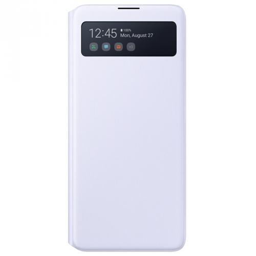 Pouzdro na mobil flipové Samsung S View Wallet Cover pro Note10 Lite bílé