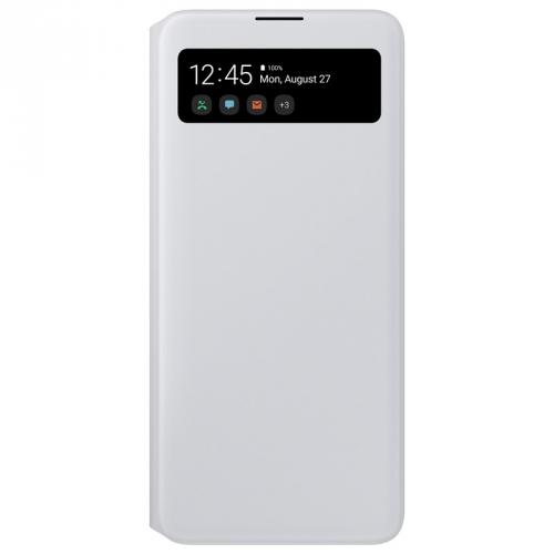 Pouzdro na mobil flipové Samsung S View Wallet Cover pro Galaxy A71 bílé
