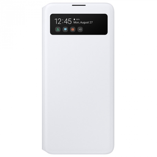 Pouzdro na mobil flipové Samsung S View Wallet Cover pro Galaxy A51 bílé