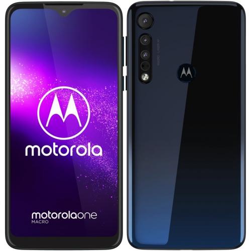 Mobilní telefon Motorola One Macro modrý