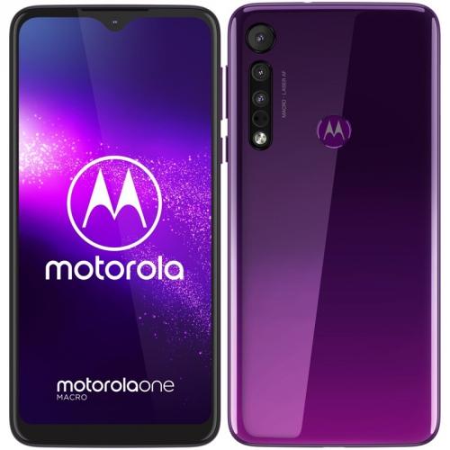 Mobilní telefon Motorola One Macro fialový