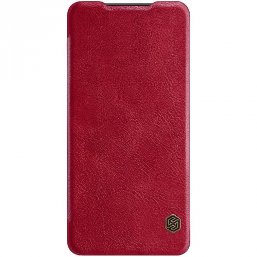 Pouzdro na mobil flipové Nillkin Qin Book pro Samsung Galaxy A50 červené