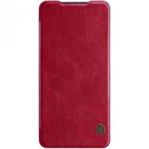 Pouzdro na mobil flipové Nillkin Qin Book pro Xiaomi Mi 9 Lite červené