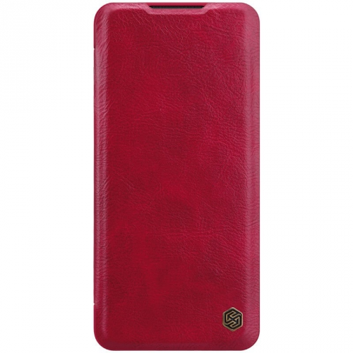 Pouzdro na mobil flipové Nillkin Qin Book pro Xiaomi Mi Note 10 Pro červené