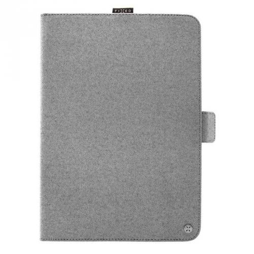 """Pouzdro na tablet flipové FIXED Novel na tablety 10,1"""" s kapsou pro stylus šedý"""