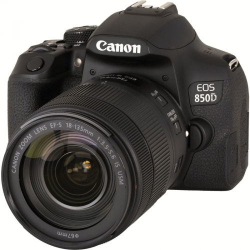 Digitální fotoaparát Canon EOS 850D + 18-135 IS USM černý + dárek