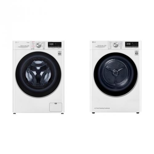 Set (Pračka LG F4WN508S1 parní) + (Sušička prádla LG RC81V9AV3Q)
