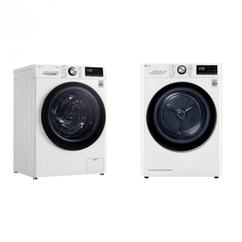 Set (Sušička prádla LG RC91V9AV2W) + (Pračka LG F4WN909S2)