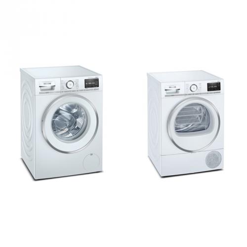 Set (Sušička prádla Siemens iQ800 WT47XEH0CS) + (Pračka Siemens iQ800 WM16XEH0CS)
