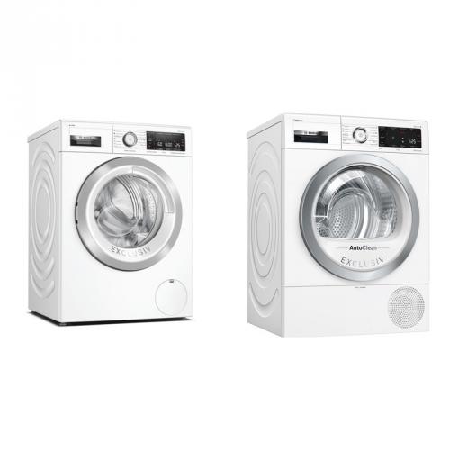 Set (Sušička prádla Bosch Serie | 8 WTX87KH0BY) + (Pračka Bosch Serie | 8 WAX32KH0BY)
