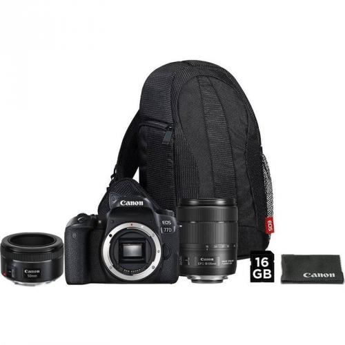 Set (Objektiv Canon EF 50 mm f/1.8 STM) + (Digitální fotoaparát Canon EOS 77D + 18-135 IS USM + VUK)
