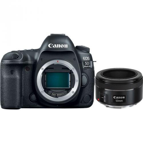 Set (Objektiv Canon EF 50 mm f/1.8 STM) + (Digitální fotoaparát Canon EOS 5D Mark IV, tělo)