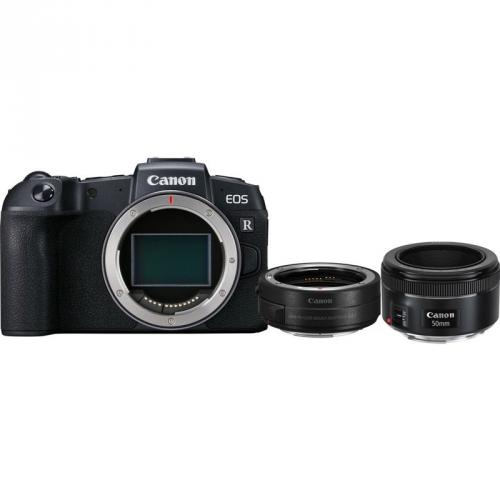 Set (Digitální fotoaparát Canon EOS RP tělo + adapter) + (Objektiv Canon EF 50 mm f/1.8 STM)