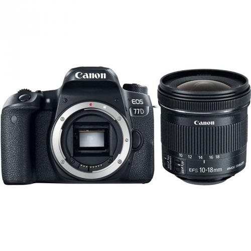 Set (Objektiv Canon EF-S 10-18 mm f/4.5-5.6 IS STM + EW73C + LC kit ) + (Digitální fotoaparát Canon EOS 77D tělo)