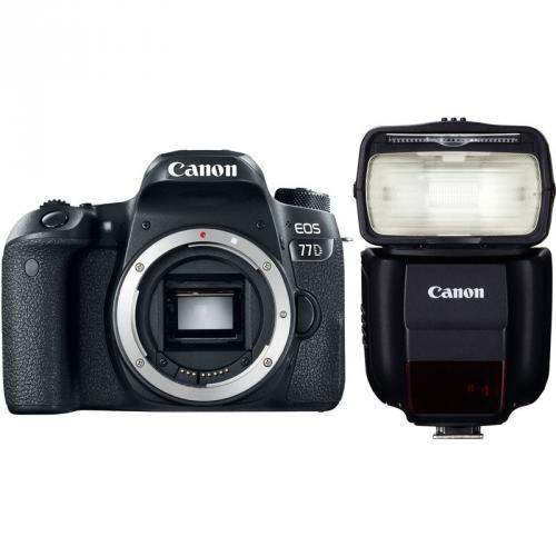 Set (Blesk Canon Speedlite 430EX III-RT) + (Digitální fotoaparát Canon EOS 77D tělo)