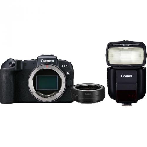 Set (Digitální fotoaparát Canon EOS RP tělo + adapter) + (Blesk Canon Speedlite 430EX III-RT)