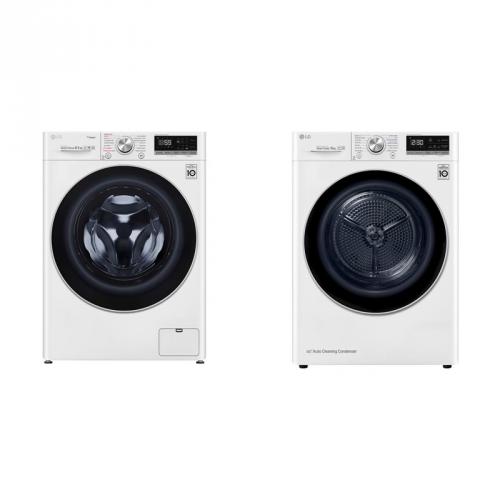 Set (Sušička prádla LG RC81V9AV3Q) + (Pračka LG Vivace F4WN708S1)