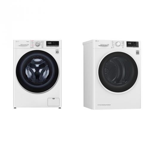 Set (Sušička prádla LG RC82EU2AV4Q) + (Pračka LG Vivace F4WT409AIDD)