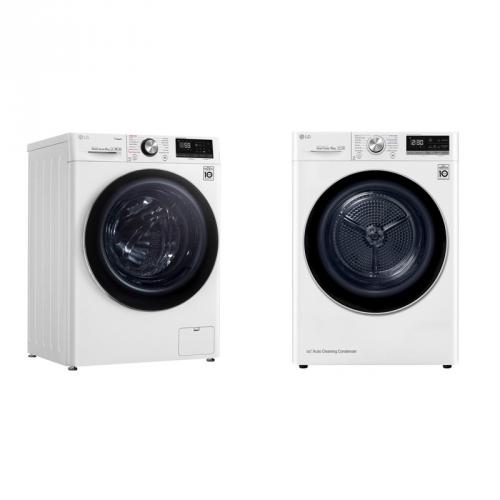 Set (Sušička prádla LG RC81V9AV3Q) + (Pračka LG F4WN909S2)