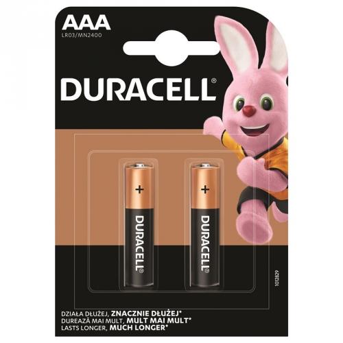 Baterie alkalická Duracell Basic AAA, LR03, 1.5V, blistr 2ks