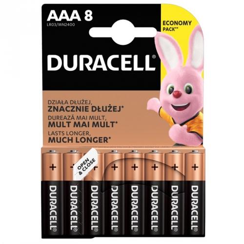 Baterie alkalická Duracell Basic AAA, LR03, 1.5V, blistr 8ks