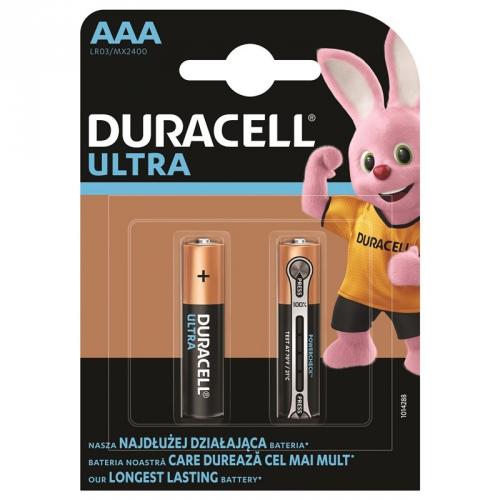 Baterie alkalická Duracell Ultra AAA, LR03, 1.5V, blistr 2ks