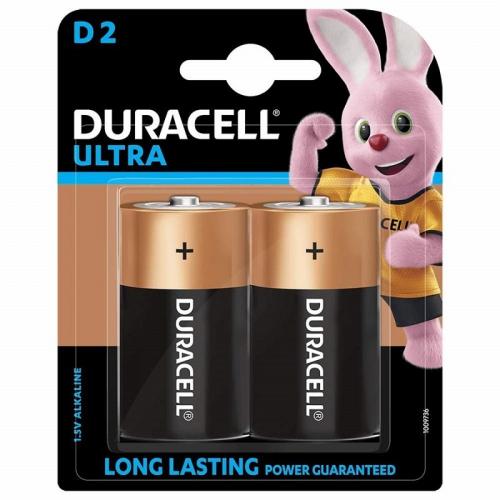 Baterie alkalická Duracell Ultra D, LR20, 1.5V, blistr 2ks