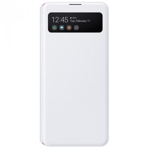 Pouzdro na mobil flipové Samsung S View pro Galaxy A41 bílé