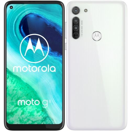 Mobilní telefon Motorola Moto G8 bílý