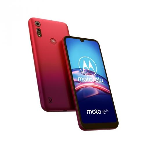 Mobilní telefon Motorola Moto E6s červený