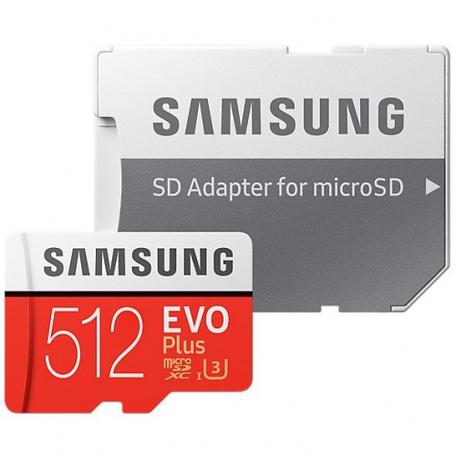 Samsung 512GB Class 10 UHS-3 (R100/W90) + SD adaptér