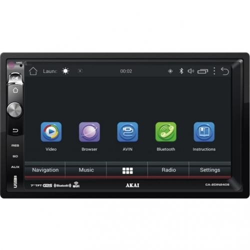 Autorádio s LCD AKAI CA-2DIN2405 černé