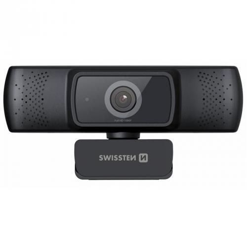 Webkamera Swissten Webcam FHD 1080P černá