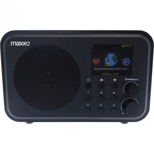 Internetový radiopřijímač Maxxo DT02 černý