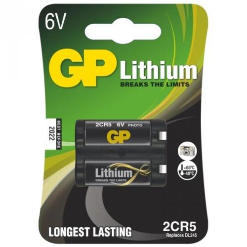 Baterie lithiová GP 2CR5, blistr 1ks