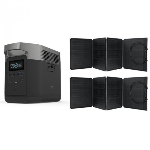 Ecoflow DELTA 220-240V (Mezinárodní verze) + 2X solární panel 110W
