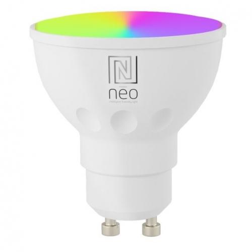 IMMAX NEO SMART LED GU10 6W RGB+CCT barevná a bílá, stmívatelná, WiFi