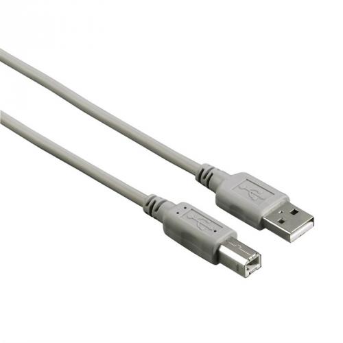 Hama USB A-B, 1,8m šedý