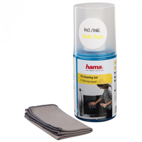 Fotografie Čistící sada Hama Gel LCD/Plazma pro čištění displejů včetně utěrky