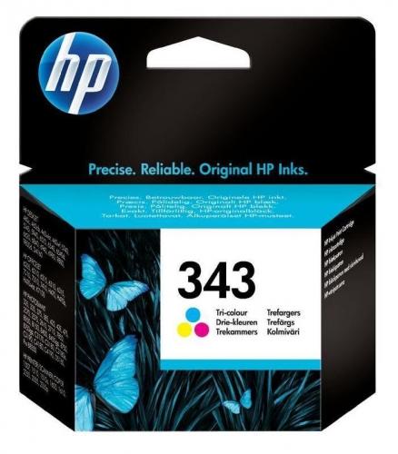 HP Photosmart No. 343, 7ml, 260 stran - originální červená/modrá/žlutá