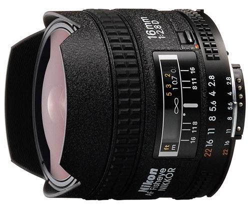 Nikon NIKKOR 16MM F2.8 AF D A černý