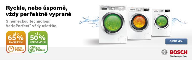 Pračka Bosch VarioPerfect: Stisknete tlačítko pro úsporné nebo rychlé praní?