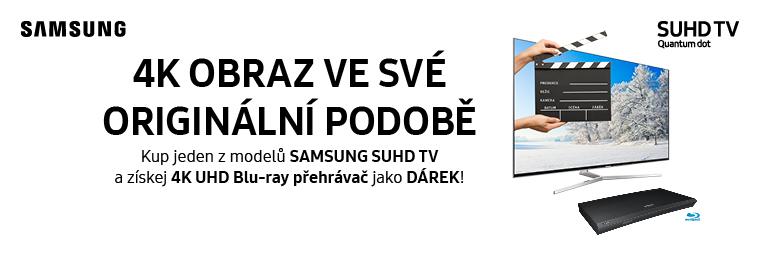 Nová generace TV Samsung naděluje dárek - 4K blu-ray přehrávač zdarma