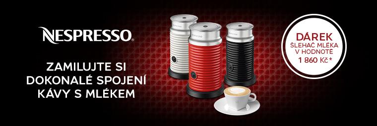 Získejte ke kávovaru Nespresso šlehač mléka Aeroccino 3 zdarma