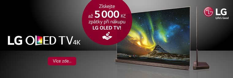 Špičkové televize LG OLED s akcí až 5 000 Kč zpět