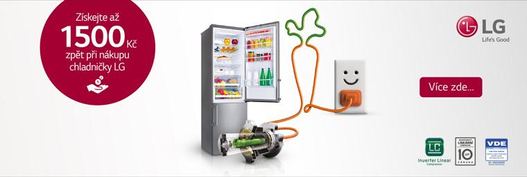 Ušetřete s novou chladničkou LG až 1 500 Kč
