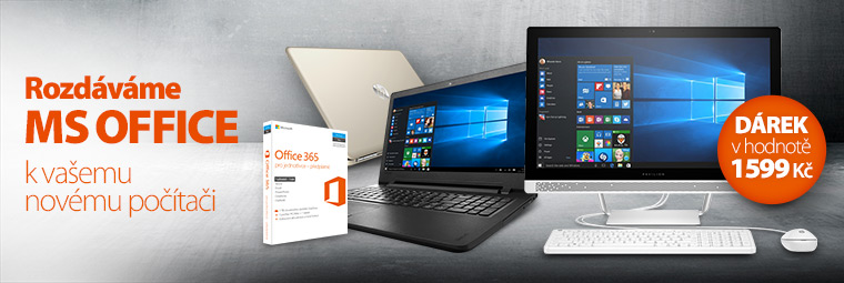 K novému počítači balíček MS Office zdarma