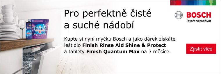 K myčkám Bosch balíček Finish jako dárek